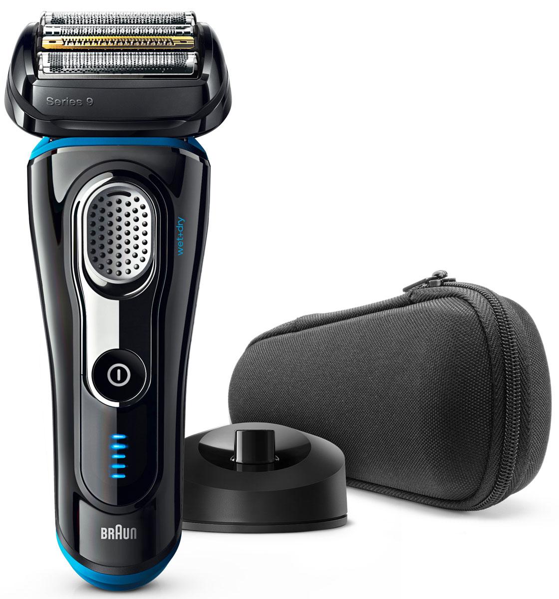 Braun Series 9 9240s Wet&Dry, Black электробритва81576496Braun Series 9 9240s Wet&Dry - одна из самых эффективных бритв в мире, а также исключительно комфортная. Специальная технология бритья позволяет захватывать больше волосков одним движением, обеспечивая гладкое и комфортное бритье без компромиссов. Преимущества: 5 специальных бреющих элементов захватывают больше волосков одним движением, что позволяет уменьшить количество движений и раздражение кожи Запатентованная технология SyncroSonic считывает и адаптируется к особенностям щетины 160 раз в секунду, повышая мощность там, где это необходимо В комплект входит зарядная станция, которая заряжает аккумулятор и отлично дополняет интерьер ванной комнаты