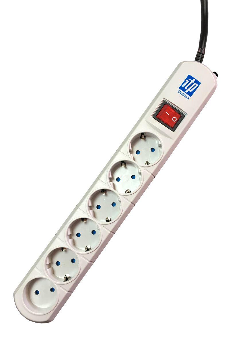 Сетевой фильтр ITP Optima OP6516, 6 розеток, 5 мOP6516Оптимальные параметры для защиты персональных компьютеров и бытовой техники. Специально разработанная электрическая схема, обеспечивает наиболее полную защиту от перепадов напряжения, короткого замыкания, наводок по сетям электропитания, пиковых бросков токов, импульсных и ВЧ помех. Сетевой фильтр содержит блок конденсаторов, симметричный дроссель, варисторный блок. Защитные шторки на розетках для безопасности Вас и Ваших детей. Оснащен автоматическим предохранителем, контролирующим состояние сети электропитания. Пять розеток евростандарта и одна бытовая розетка для надёжного подключения максимального количества устройств. Корпус сетевого фильтра ITP изготовлен из ударопрочного самозатухающего ABS пластика. Максимальный ток помехи, выдерживаемый ограничителем, А-10000 Максимальная рассеиваемая энергия, Дж-400 Максимальное подавление высокочастотных помех: 0,1мГц-20Дб, 1мГц – 40Дб, 10мГц-30Дб