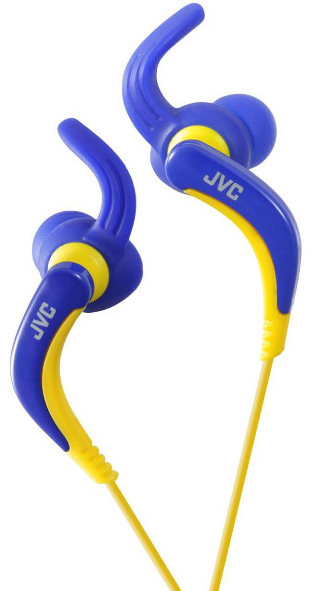 JVC HA-ETX30-A, Blue наушникиHA-ETX30-AВнутриканальные наушники JVC HA-ETX30, водонепроницаемые с удобным креплением для бега. Наушники имеют регулируемое подвижное соединение для удобства использования. Шнур длиной 1,2 метра оснащен позолоченным штекером L-типа.
