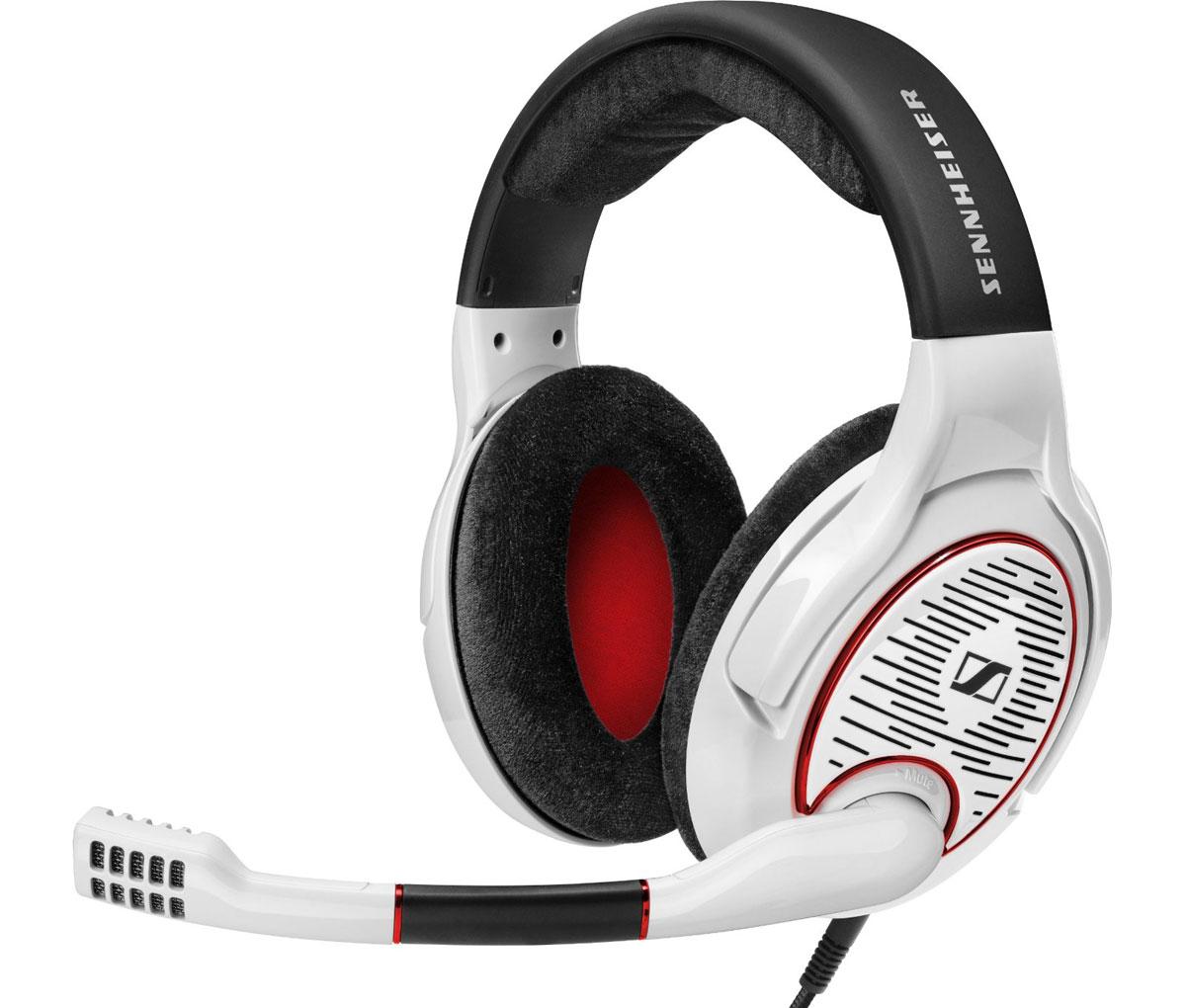 Sennheiser Game One, White игровые наушники506065С игровой гарнитурой Sennheiser Game One вы будете наслаждаться естественным и детальным звучанием, которое обеспечат открытые наушники. Открытые наушники с большими велюровыми амбушюрами XXL гарантируют свободную циркуляцию воздуха, что несомненно поможет Вам во время длительных игровых сессий. Лёгкий вес, оптимизированные для игр преобразователи Sennheiser, интуитивная функция отключения микрофона и встроенный регулятор громкости превращают Game One в незаменимого партнёра в компьютерных играх. Выдающийся комфорт - большие наушники с велюровыми амбушюрами обеспечивая мягкое прилегание и комфорт. Чистый и детализированный звук в игровом пространстве достигается за счёт оригинальных преобразователей Sennheiser, специально оптимизированных для игр. Удобная функция отключения микрофона - микрофон автоматически отключается, если повернуть держатель в вертикальное положение. Кабель с тканевой оплёткой предотвращает...