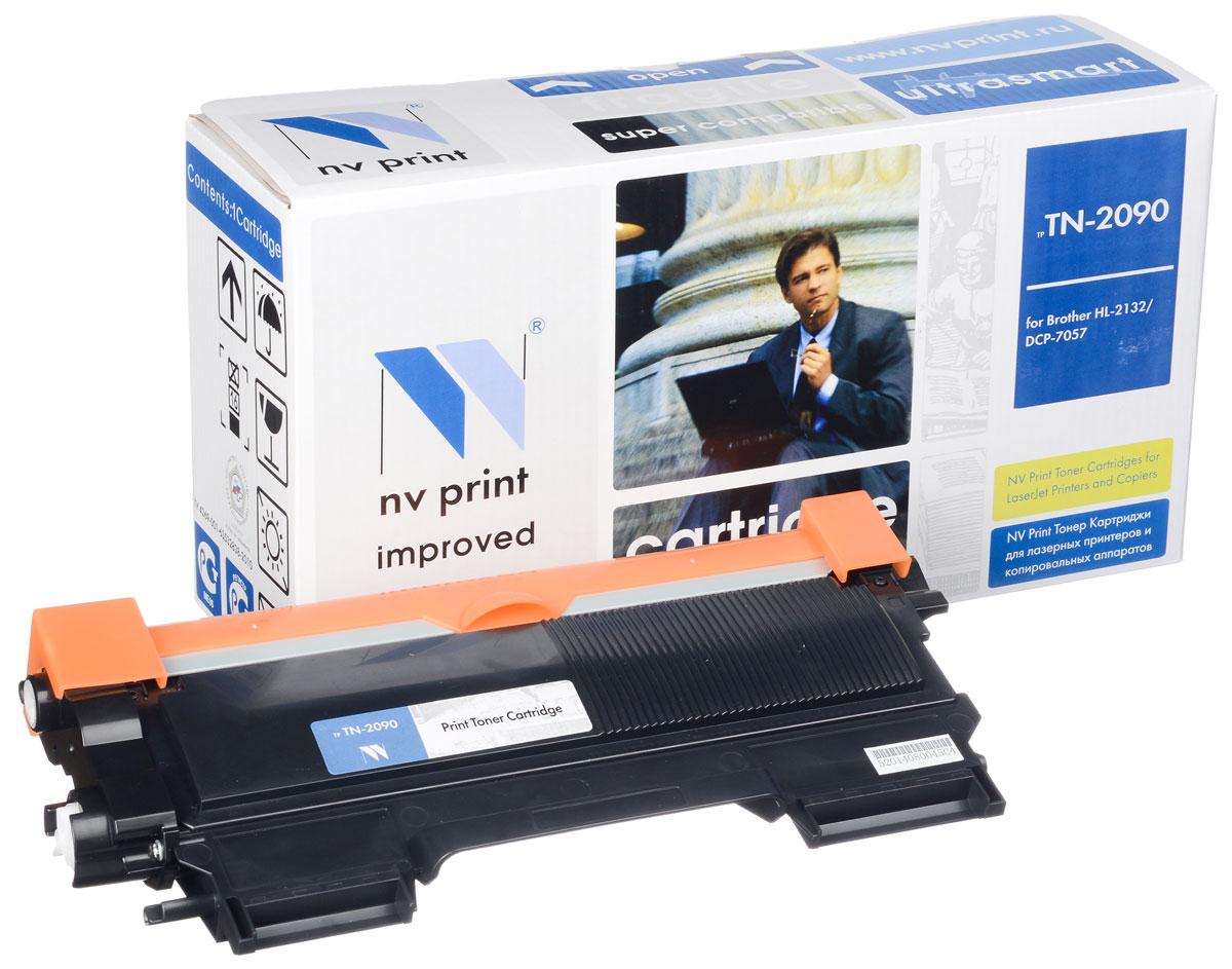 NV Print TN-2090, Black тонер-картридж для Brother HL-2132R/DCP-7057RTN-2090Совместимый лазерный картридж NV Print для печатающих устройств Brother - это альтернатива приобретению оригинальных расходных материалов. При этом качество печати остается высоким. Картридж обеспечивает повышенную чёткость чёрного текста и плавность переходов оттенков серого цвета и полутонов, позволяет отображать мельчайшие детали изображения. Лазерные принтеры, копировальные аппараты и МФУ являются более выгодными в печати, чем струйные устройства, так как лазерных картриджей хватает на значительно большее количество отпечатков, чем обычных. Для печати в данном случае используются не чернила, а тонер.