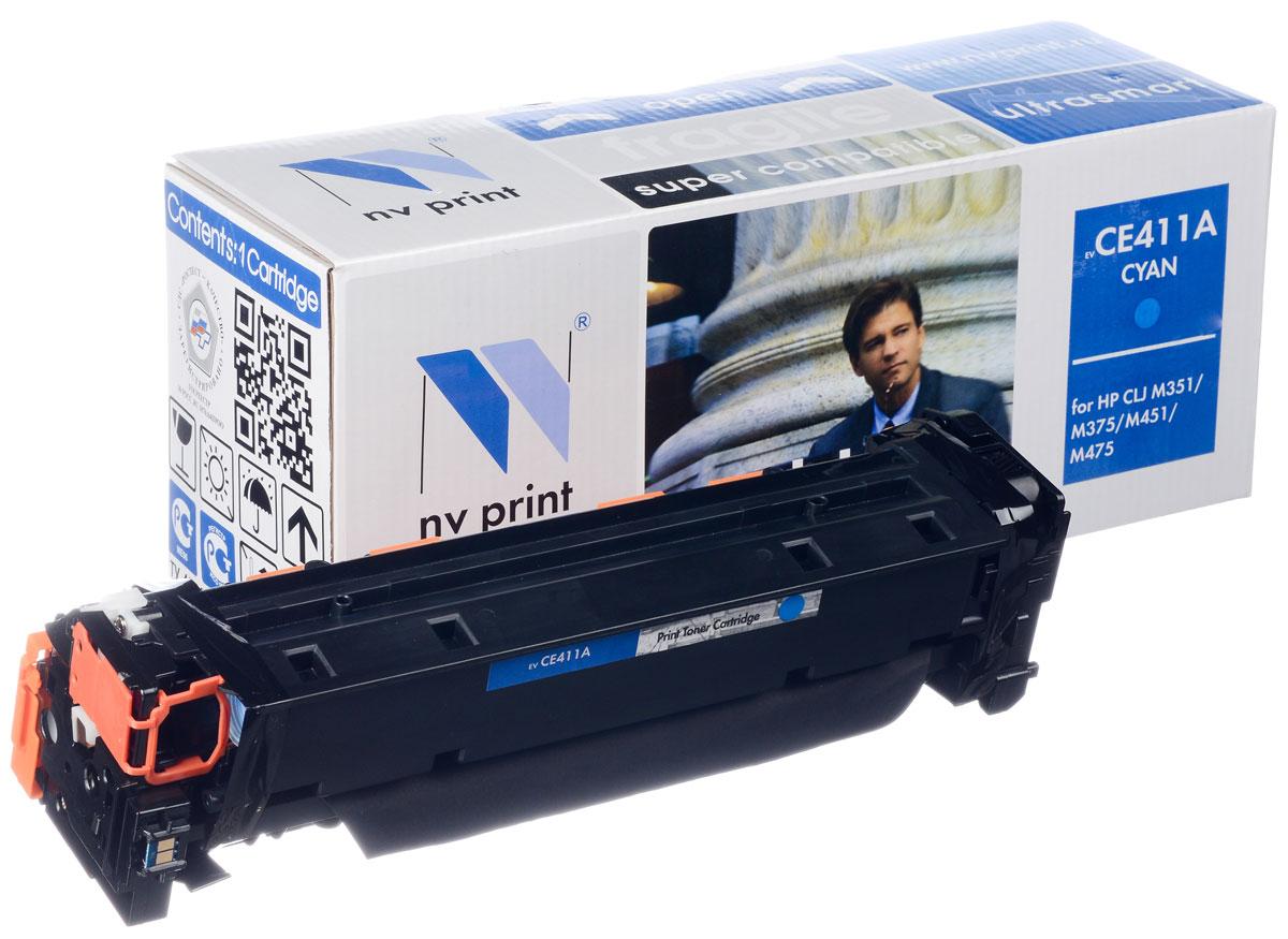 NV Print CE411A, Cyan тонер-картридж для HP CLJ M351/M451/MFP M375/MFP M475CE411AСовместимый лазерный картридж NV Print для печатающих устройств HP - это альтернатива приобретению оригинальных расходных материалов. При этом качество печати остается высоким. Картридж обеспечивает повышенную чёткость и плавность переходов оттенков цвета и полутонов, позволяет отображать мельчайшие детали изображения. Лазерные принтеры, копировальные аппараты и МФУ являются более выгодными в печати, чем струйные устройства, так как лазерных картриджей хватает на значительно большее количество отпечатков, чем обычных. Для печати в данном случае используются не чернила, а тонер.