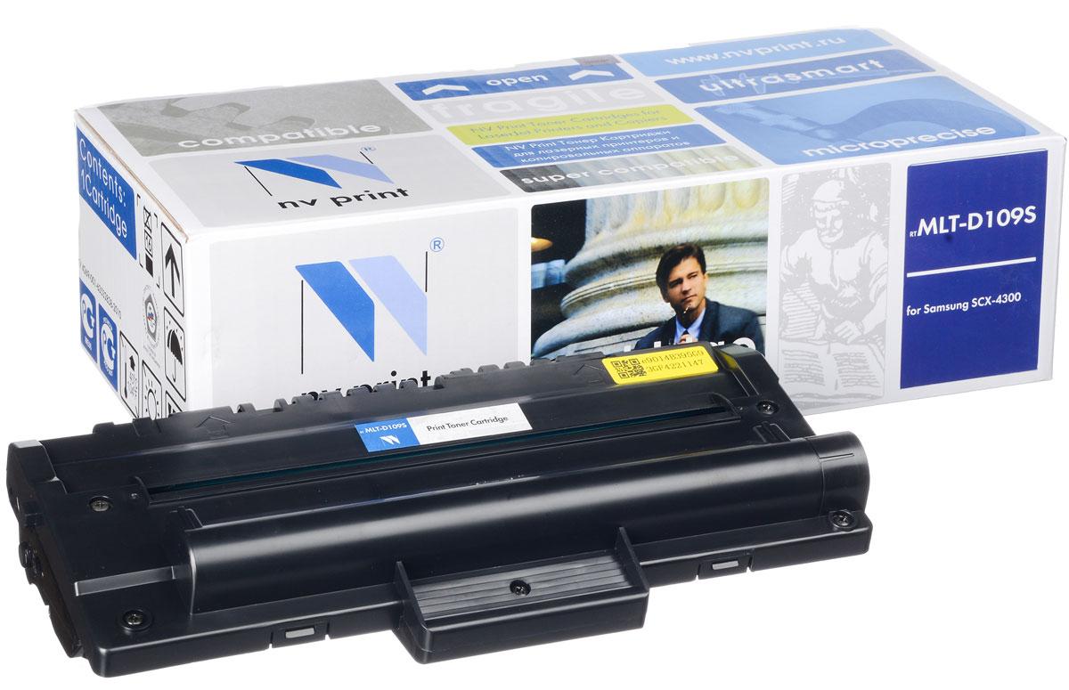 NV Print MLT-D109S, Black тонер-картридж для Samsung SCX-4300NV-MLTD109SСовместимый лазерный картридж NV Print MLT-D109S для печатающих устройств Samsung - это альтернатива приобретению оригинальных расходных материалов. При этом качество печати остается высоким. Картридж обеспечивает повышенную чёткость чёрного текста и плавность переходов оттенков серого цвета и полутонов, позволяет отображать мельчайшие детали изображения. Лазерные принтеры, копировальные аппараты и МФУ являются более выгодными в печати, чем струйные устройства, так как лазерных картриджей хватает на значительно большее количество отпечатков, чем обычных. Для печати в данном случае используются не чернила, а тонер.