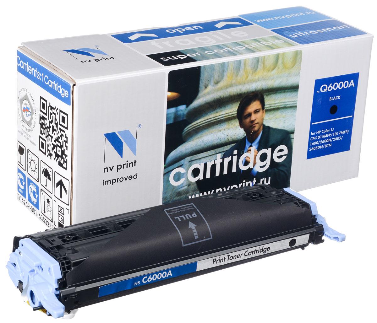 NV Print Q6000A/CAN707Bk, Black тонер-картридж для HP Color LaserJet CM1015MFP/CM1017MFP1600/2600N/2605/2605DN/DTN/Canon LBP 5000NV-Q6000A/CAN707BkСовместимый лазерный картридж NV Print Q6000A/CAN707Bk для печатающих устройств HP и Canon - это альтернатива приобретению оригинальных расходных материалов. При этом качество печати остается высоким. Картридж обеспечивает повышенную чёткость чёрного текста и плавность переходов оттенков серого цвета и полутонов, позволяет отображать мельчайшие детали изображения. Лазерные принтеры, копировальные аппараты и МФУ являются более выгодными в печати, чем струйные устройства, так как лазерных картриджей хватает на значительно большее количество отпечатков, чем обычных. Для печати в данном случае используются не чернила, а тонер.