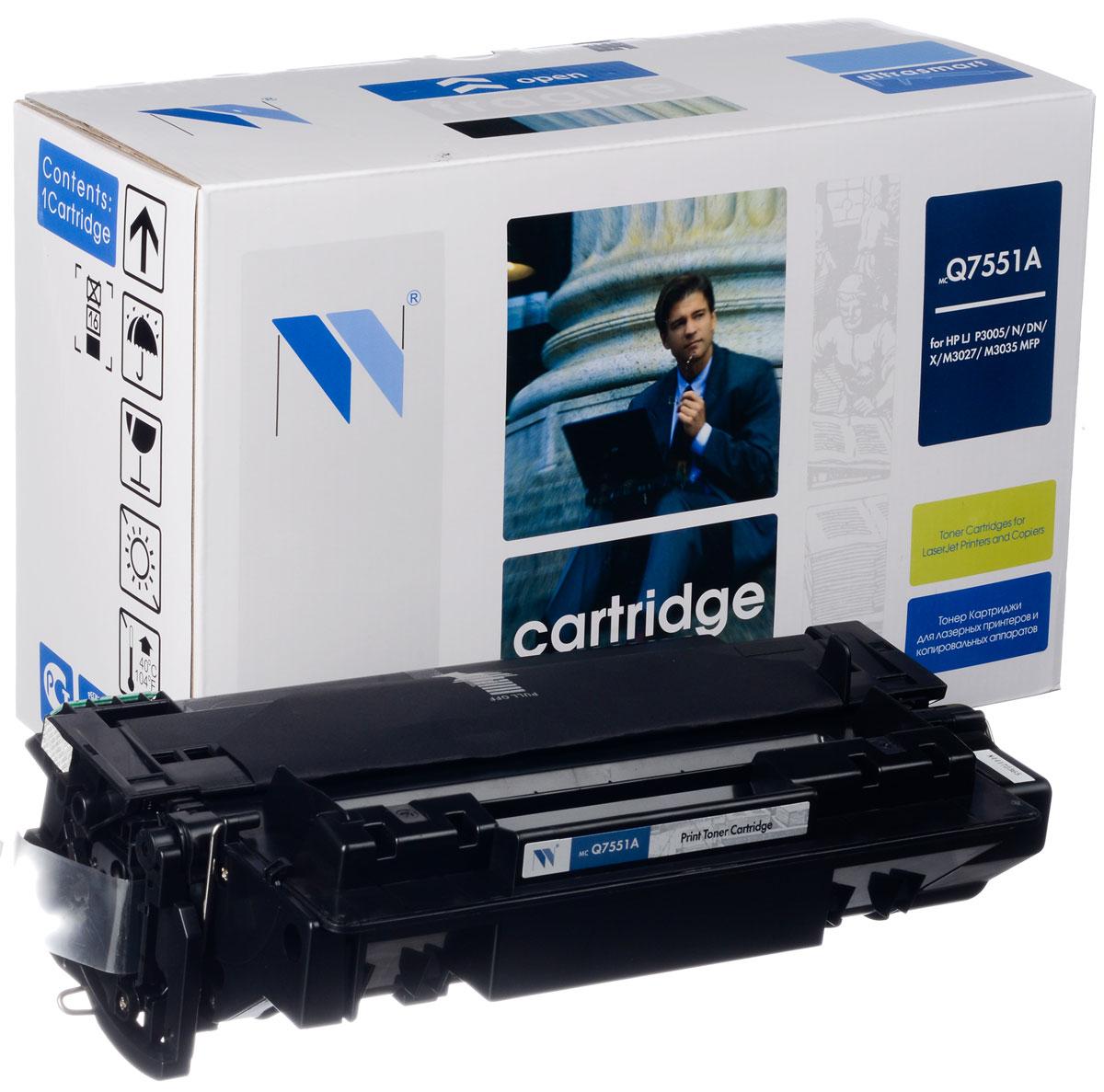 NV Print Q7551A, Black тонер-картридж для HP LaserJet P3005/M3027mpf/M3035mpfNV-Q7551AСовместимый лазерный картридж NV Print Q7551A для печатающих устройств HP - это альтернатива приобретению оригинальных расходных материалов. При этом качество печати остается высоким. Картридж обеспечивает повышенную чёткость чёрного текста и плавность переходов оттенков серого цвета и полутонов, позволяет отображать мельчайшие детали изображения. Лазерные принтеры, копировальные аппараты и МФУ являются более выгодными в печати, чем струйные устройства, так как лазерных картриджей хватает на значительно большее количество отпечатков, чем обычных. Для печати в данном случае используются не чернила, а тонер.