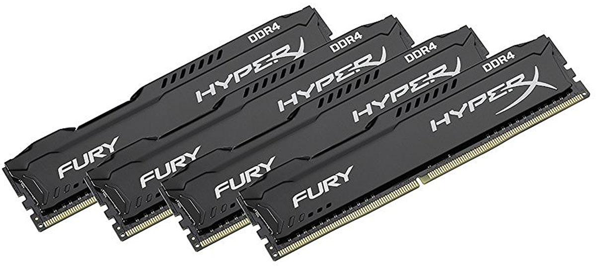 Kingston HyperX Fury DDR4 DIMM 16GB (4х4GB) 2400МГц комплект модулей оперативной памяти (HX424C15FBK4/16)