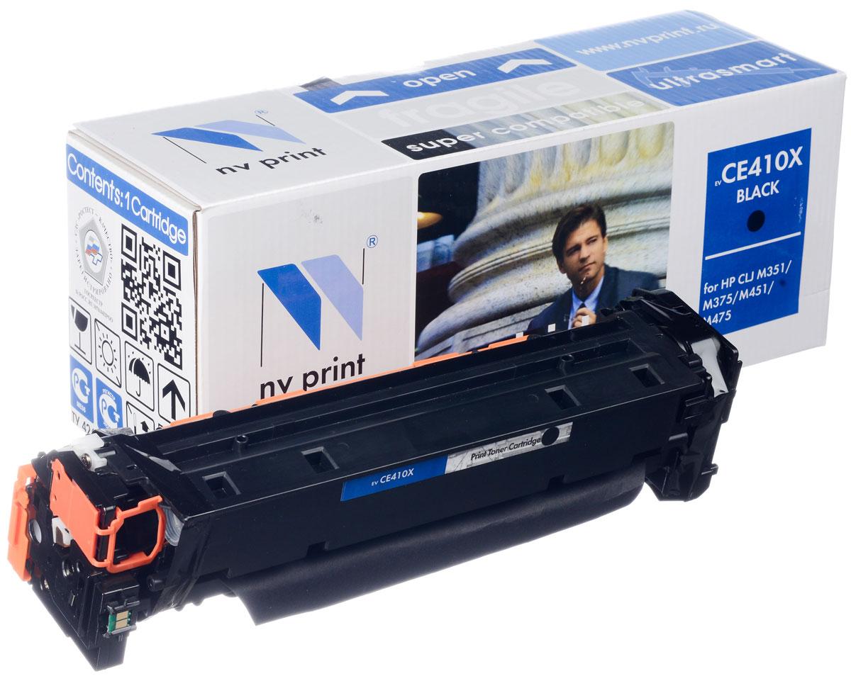 NV Print CE410XBk, Black тонер-картридж для HP Color LaserJet Color M351/M451/MFP M375/MFP M475NV-CE410XBkСовместимый лазерный картридж NV Print CE410XBk для печатающих устройств HP - это альтернатива приобретению оригинальных расходных материалов. При этом качество печати остается высоким. Картридж обеспечивает повышенную чёткость чёрного текста и плавность переходов оттенков серого цвета и полутонов, позволяет отображать мельчайшие детали изображения. Лазерные принтеры, копировальные аппараты и МФУ являются более выгодными в печати, чем струйные устройства, так как лазерных картриджей хватает на значительно большее количество отпечатков, чем обычных. Для печати в данном случае используются не чернила, а тонер.