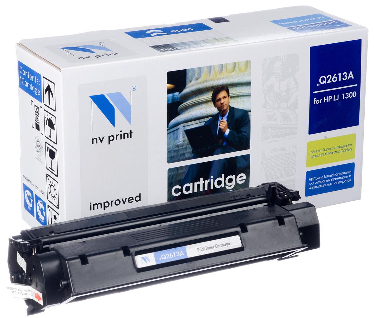 NV Print Q2613A, Black тонер-картридж для HP LaserJet 1300NV-Q2613AСовместимый лазерный картридж NV Print Q2613A для печатающих устройств HP - это альтернатива приобретению оригинальных расходных материалов. При этом качество печати остается высоким. Картридж обеспечивает повышенную чёткость и плавность переходов оттенков цвета и полутонов, позволяет отображать мельчайшие детали изображения. Лазерные принтеры, копировальные аппараты и МФУ являются более выгодными в печати, чем струйные устройства, так как лазерных картриджей хватает на значительно большее количество отпечатков, чем обычных. Для печати в данном случае используются не чернила, а тонер.
