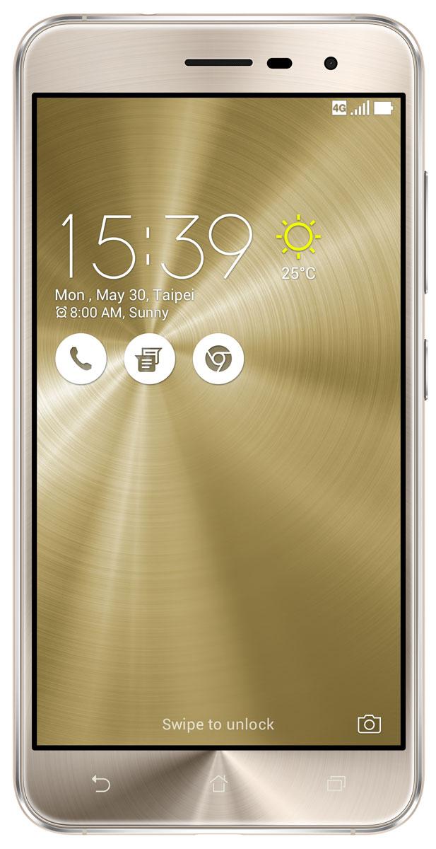 ASUS ZenFone 3 ZE520KL, Shimmer Gold (90AZ0173-M00600)90AZ0173-M00600ZenFone 3 – это современный смартфон с оригинальным дизайном и высококачественной камерой, который станет вашу жизнь чуть более необычной. Современный смартфон, отделанный с обеих сторон защитным стеклом безупречно выверенной формы. Тонкий корпус, который идеально ложится в ладонь. Оригинальный узор из концентрических окружностей, украшающий заднюю панель и выгравированный на кнопках, как отражение философской гармонии Дзен. Вы хотите получить совершенно новые впечатления от своего нового смартфона? Просто взгляните и прикоснитесь к ZenFone 3. ZenFone 3 — это синоним тонкой работы. Заключенный в корпус из высокопрочного стекла Corning Gorilla Glass со скругленными кромками, данный смартфон имеет толщину всего 7,69 мм. Красоту его изысканного дизайна подчеркивают акценты на боковых гранях, выполненные методом алмазной резки. Это шедевр современного инженерного искусства, которым вы никогда не устанете наслаждаться. ZenFone 3 оснащается...