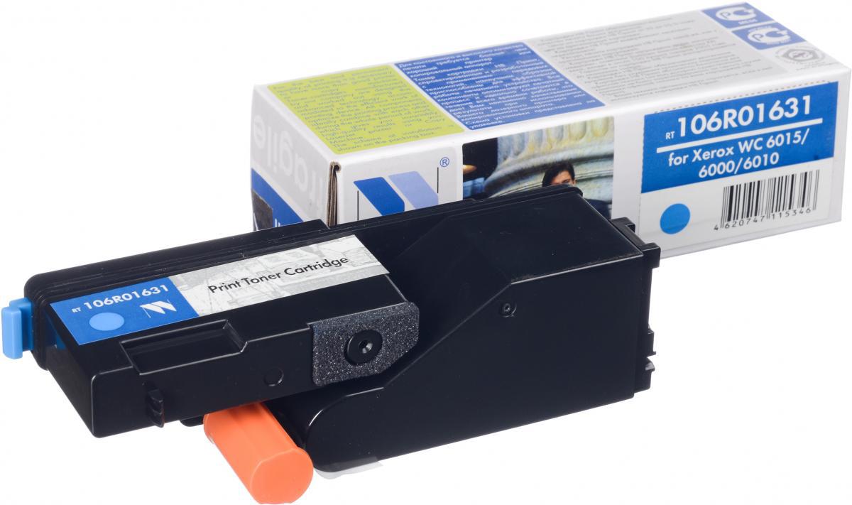 NV Print 106R01631C, Cyan тонер-картридж для Xerox Phaser 6000/6010NV-106R01631CСовместимый лазерный картридж NV Print 106R01631C для печатающих устройств Xerox - это альтернатива приобретению оригинальных расходных материалов. При этом качество печати остается высоким. Картридж обеспечивает повышенную чёткость и плавность переходов оттенков цвета и полутонов, позволяет отображать мельчайшие детали изображения. Лазерные принтеры, копировальные аппараты и МФУ являются более выгодными в печати, чем струйные устройства, так как лазерных картриджей хватает на значительно большее количество отпечатков, чем обычных. Для печати в данном случае используются не чернила, а тонер.