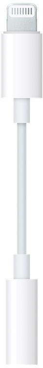 Apple Lightning to 3.5 mm jack, White адаптерMMX62ZM/AАдаптер Apple Lightning to 3.5 mm jack, White позволяет подключать аксессуары с разъёмом 3,5 мм к устройствам с разъёмом Lightning.