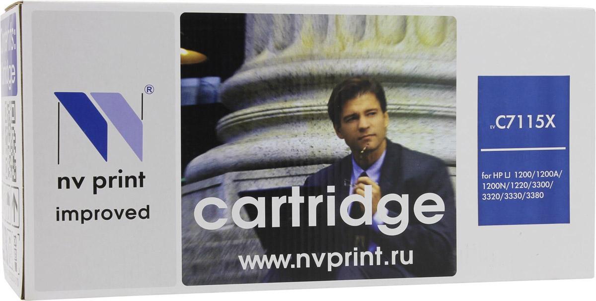 NV Print C7115X, Black тонер-картридж для HP LaserJet 1200/1220/3300/3380NV-C7115XСовместимый лазерный картридж NV Print C7115X для печатающих устройств HP - это альтернатива приобретению оригинальных расходных материалов. При этом качество печати остается высоким. Картридж обеспечивает повышенную чёткость чёрного текста и плавность переходов оттенков серого цвета и полутонов, позволяет отображать мельчайшие детали изображения. Лазерные принтеры, копировальные аппараты и МФУ являются более выгодными в печати, чем струйные устройства, так как лазерных картриджей хватает на значительно большее количество отпечатков, чем обычных. Для печати в данном случае используются не чернила, а тонер.
