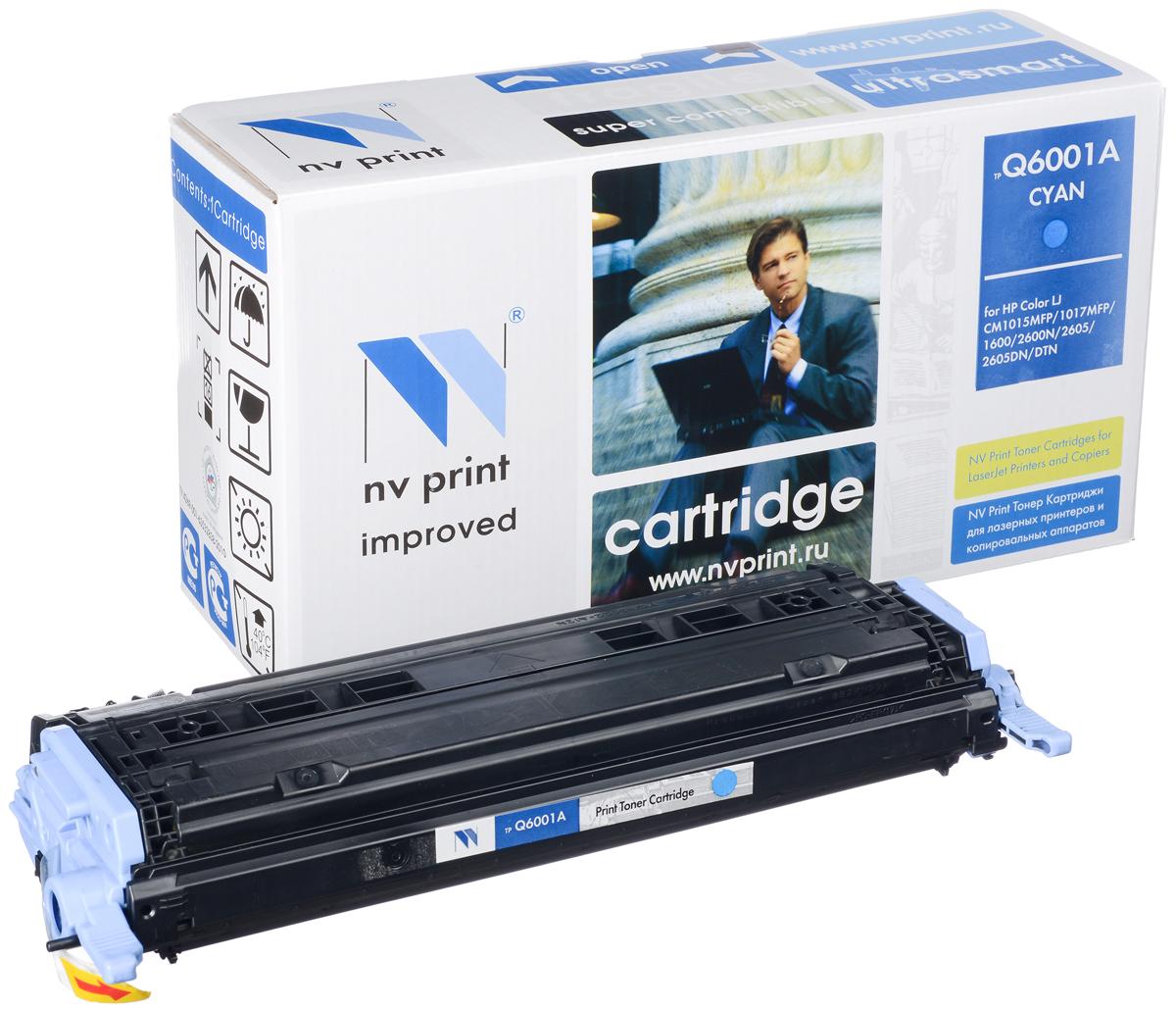 NV Print Q6001A/CAN707C, Cyan тонер-картридж для HP Color LJ CM1015MFP/CM1017MFP1600/2600N/2605/Canon LBP 5000