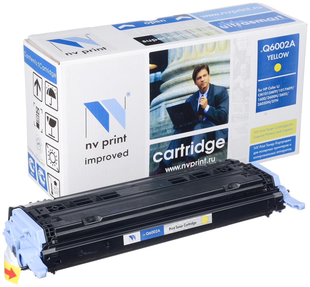 NV Print Q6002A/CAN707Y, Yellow тонер-картридж для HP Color LaserJet CM1015MFP/CM1017MFP/1600/2600N/2605/Canon LBP 5000NV-Q6002A/CAN707YСовместимый лазерный картридж NV Print Q6002A/CAN707Y для печатающих устройств HP и Canon - это альтернатива приобретению оригинальных расходных материалов. При этом качество печати остается высоким. Картридж обеспечивает повышенную чёткость и плавность переходов оттенков цвета и полутонов, позволяет отображать мельчайшие детали изображения. Лазерные принтеры, копировальные аппараты и МФУ являются более выгодными в печати, чем струйные устройства, так как лазерных картриджей хватает на значительно большее количество отпечатков, чем обычных. Для печати в данном случае используются не чернила, а тонер.