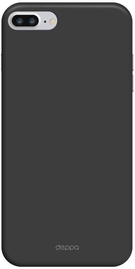 Deppa Air Case чехол для Apple iPhone 7 Plus, Black83272Чехол Deppa Air Case для Apple iPhone 7 Plus - случай редкого сочетания яркости и чувства меры. Это стильная и элегантная деталь вашего образа, которая всегда обращает на себя внимание среди множества вещей. Благодаря покрытию soft touch чехол невероятно приятен на ощупь, поэтому смартфон не хочется выпускать из рук. Ультратонкий чехол (толщиной 1 мм) повторяет контуры самого девайса, при этом готов принимать на себя удары - последствия непрерывного ритма городской жизни.