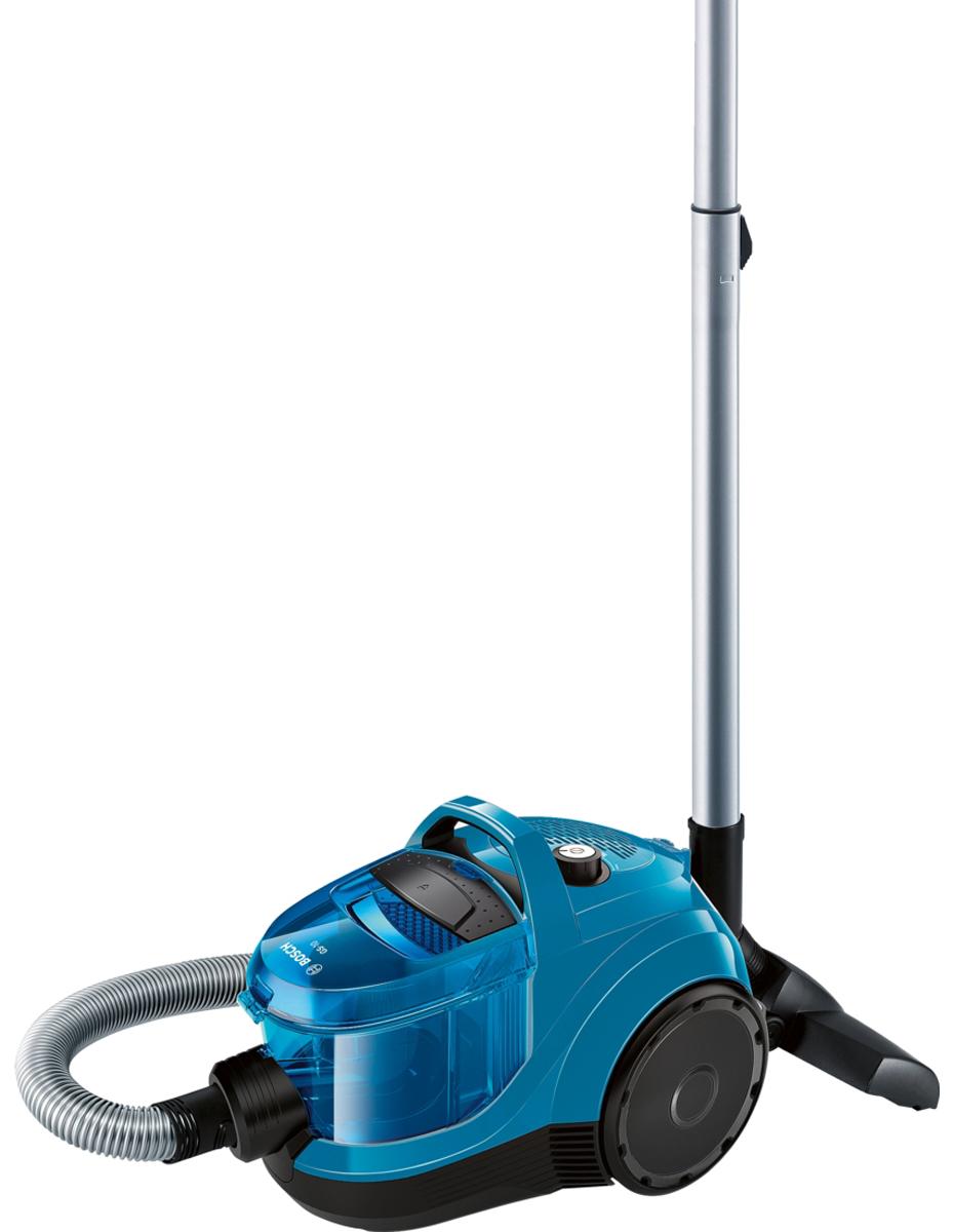Bosch BGC1U1550, Blue Black пылесосBGC1U1550EasyClean Система лёгкой очистки EasyClean: контейнер пылесоса Bosch BGC1U1550 простой формы, его легко вынимать нажатием одной кнопки и также легко чистить, так как он не имеет углов, в которых может застрять грязь. RotationClean Чистка фильтра без контакта с пылью - встроенная система RotationClean. Радиус действия 10 м Благодаря большому радиусу действия 10 м можно убрать даже большую квартиру за один подход. SilenceSound System Весь процесс разработки пылесоса Bosch BGC1U1550 с самого начала был подчинен задаче снижения шума при бескомпромиссно высоком качестве уборки. Каждый элемент пылесоса, от щетки до выпускной решетки, был проанализирован и сконструирован с учетом требований по снижению шума. Контроль производительности Оптимальная производительность для всех типов полов. достигается благодаря поворотному переключателю.