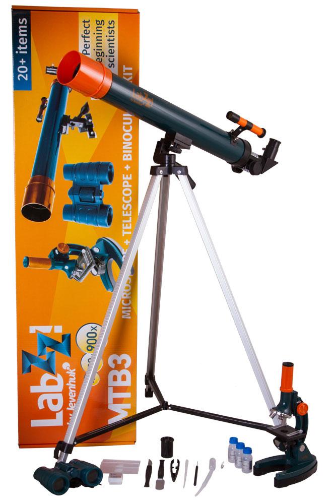 Levenhuk LabZZ MTВ3 набор: микроскоп, телескоп и бинокль