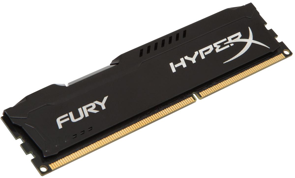 Kingston HyperX Fury DDR3 4GB 1600 МГц, Black модуль оперативной памяти (HX316C10FB/4)HX316C10FB/4Модуль памяти Kingston HyperX FURY DDR3 автоматически разгоняется до максимальной заявленной частоты, а простота и автоматическая конфигурируемость позволяют быстрее включаться в игру и мгновенно выходить на высочайшие скорости, необходимые для победы. Благодаря низкому напряжению (от 1,35 В) потребляется меньше энергии и выделяется меньше тепла, при этом поддерживаются новые чипсеты Intel 100 Series. Ассиметричный и агрессивный дизайн модуля, а также высококачественный алюминий и граненая отделка позволят вам выделиться среди стандартных квадратных конструкций.