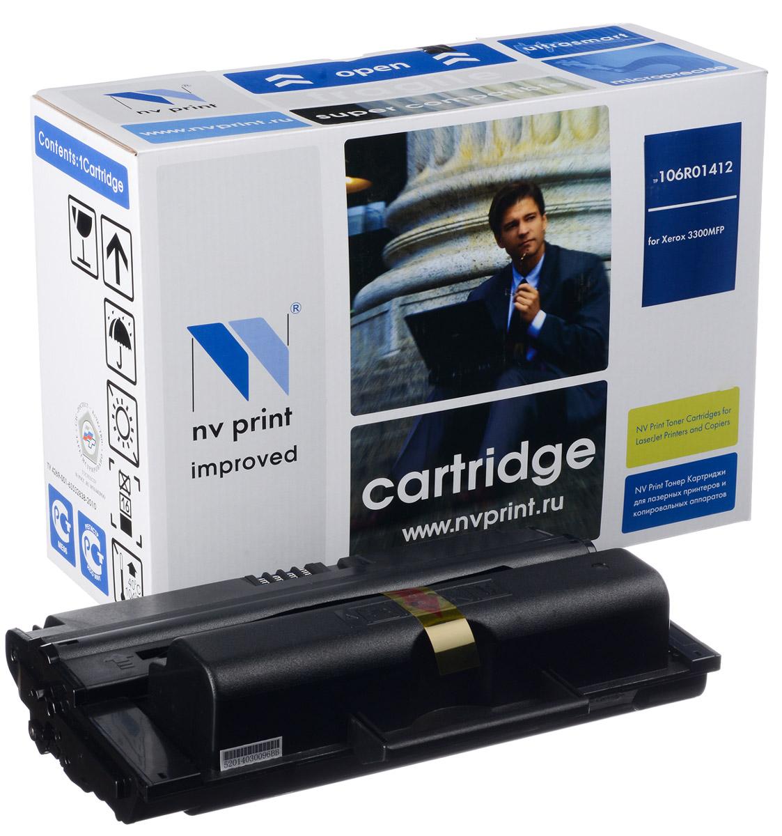 NV Print 106R01412, Black тонер-картридж для Xerox Phaser 3300MFPNV-106R01412Совместимый лазерный картридж NV Print 106R01412 для печатающих устройств Xerox Phaser - это альтернатива приобретению оригинальных расходных материалов. При этом качество печати остается высоким. Картридж обеспечивает повышенную чёткость чёрного текста и плавность переходов оттенков серого цвета и полутонов, позволяет отображать мельчайшие детали изображения. Лазерные принтеры, копировальные аппараты и МФУ являются более выгодными в печати, чем струйные устройства, так как лазерных картриджей хватает на значительно большее количество отпечатков, чем обычных. Для печати в данном случае используются не чернила, а тонер.