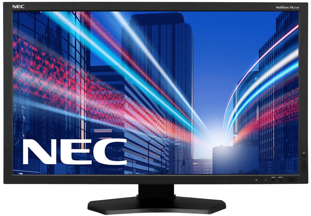 NEC PA272W-BK-SV2, Black монитор60003949Профессиональный монитор NEC PA272W-BK-SV2 с 10-битной панелью AH-IPS и светодиодной подсветкой GB-R соединяет в себе высокую надежность, бескомпромиссное качество изображения, а также очень точное цветовоспроизведение. Данная модель позволяет работать в режиме 24/7 (с возможностью продления гарантийного обслуживания) и гарантирует безошибочное, интенсивное визуальное отображение. Включённое ПО SpectraView II работает с встроенной технологией SpectraView Engine и внешним сенсором (опционально) для обеспечения идеальной аппаратной калибровки с реальными цветовыми оттенками. Благодаря датчику внешней освещенности и счетчику уровня выбросов углекислого газа данный дисплей обеспечивает профессиональную и в то же время экологичную эффективность и оказывает меньшее воздействие на окружающую среду на протяжении всего срока службы. Данный дисплей является идеальным решением для работы с претенциозными приложениями, для творческих профессионалов,...