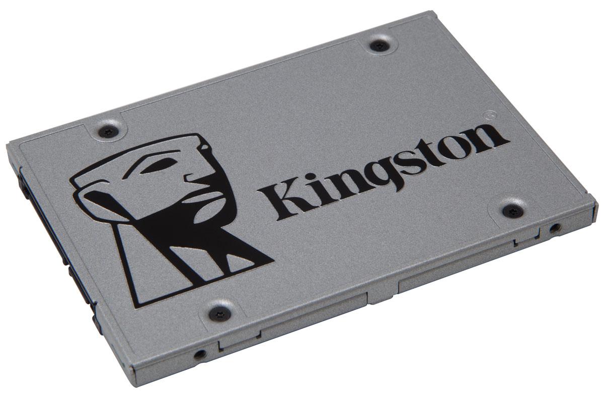 Kingston UV400 120Gb SSD-накопитель (SUV400S37/120G)SUV400S37/120GSSD Kingston UV400 оснащен четырехканальным контроллером Marvell и обеспечивает потрясающую скорость работы и повышенную производительность по сравнению с механическими жесткими дисками. Он значительно повышает скорость работы вашего компьютера и в 10 раз быстрее, чем жесткий диск со скоростью 7200 об/мин. UV400 более надежен и долговечен, чем жесткий диск; он изготовлен с использованием флеш-памяти, поэтому он имеет ударопрочную конструкцию, устойчив к вибрациям и менее подвержен сбоям, чем механический жесткий диск. Его надежность делает этот накопитель идеальным выбором для ноутбуков и других мобильных цифровых устройств. UV400 предоставляет достаточно пространства для хранения всех ваших файлов, приложений, видео, фотографий и других важных документов. Он станет альтернативой жесткому диску.