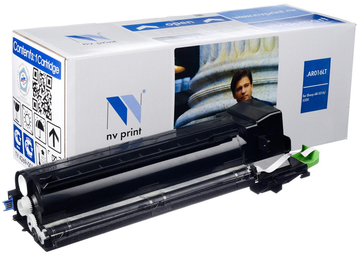 NV Print AR016LT, Black тонер-картридж для Sharp AR 5016/5120/5316/5320NV-AR016LTСовместимый лазерный картридж NV Print AR016LT для печатающих устройств Sharp AR - это альтернатива приобретению оригинальных расходных материалов. При этом качество печати остается высоким. Картридж обеспечивает повышенную чёткость чёрного текста и плавность переходов оттенков серого цвета и полутонов, позволяет отображать мельчайшие детали изображения. Лазерные принтеры, копировальные аппараты и МФУ являются более выгодными в печати, чем струйные устройства, так как лазерных картриджей хватает на значительно большее количество отпечатков, чем обычных. Для печати в данном случае используются не чернила, а тонер.