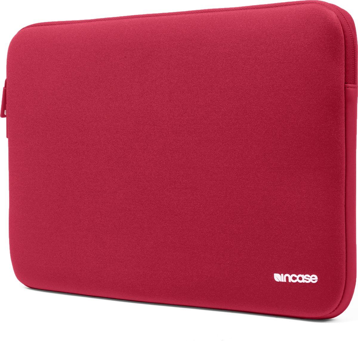 Incase Neoprene Classic Sleeve чехол для Apple MacBook Pro 15, Racing RedCL60633Тонкий чехол Incase Neoprene Classic Sleeve для Apple MacBook Pro 15 выполнен из неопрена в элегантном строгом дизайне. Чехол надежно защищает устройство от царапин, не пропускает влагу и оснащен мягкой подкладкой, а также удобной застежкой-молнией.