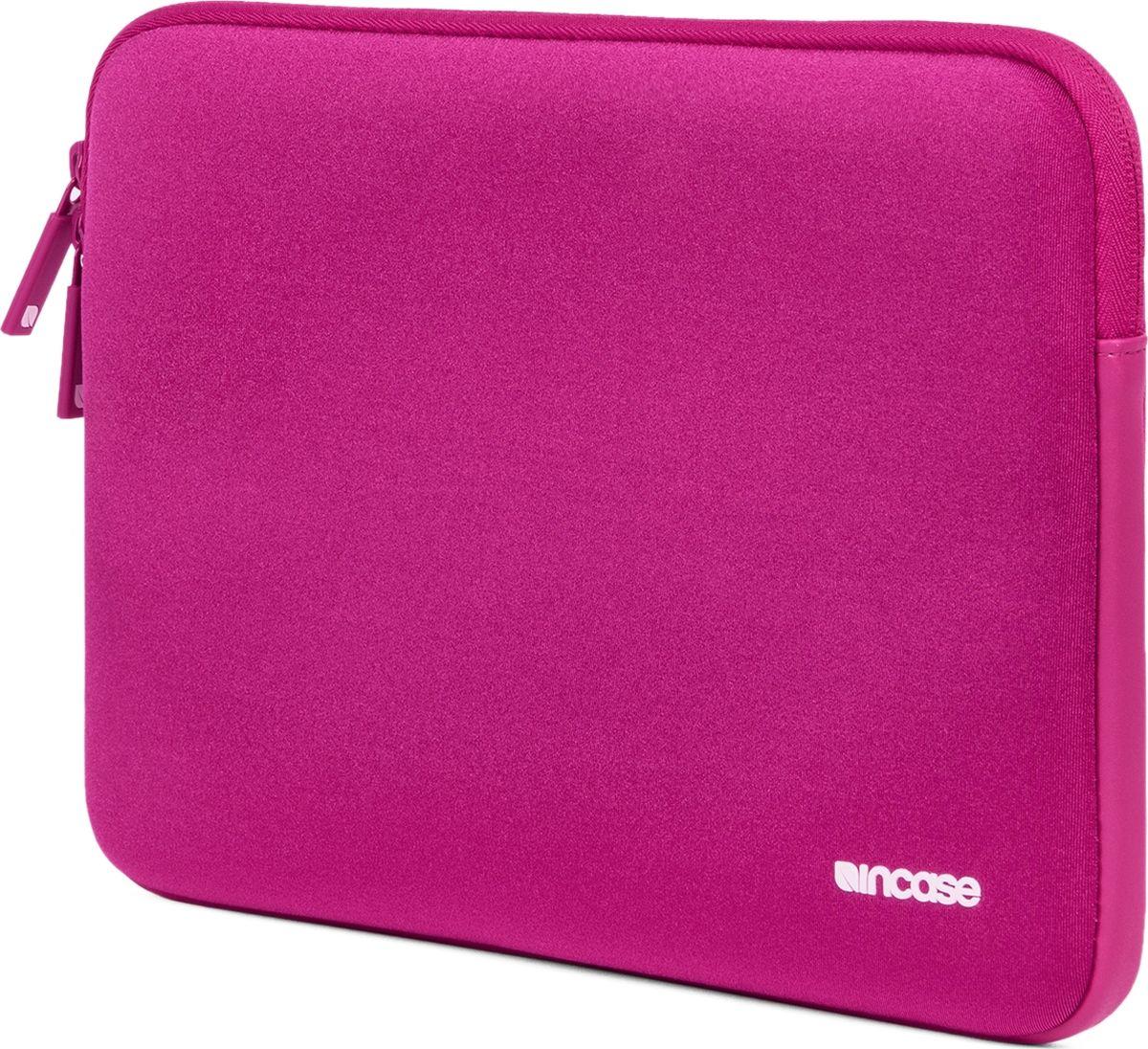 Incase Neoprene Classic Sleeve чехол для Apple MacBook 12, Pink SapphireCL60670Тонкий чехол Incase Neoprene Classic Sleeve для Apple MacBook 12 выполнен из неопрена в элегантном строгом дизайне. Чехол надежно защищает устройство от царапин, не пропускает влагу и оснащен мягкой подкладкой, а также удобной застежкой-молнией.