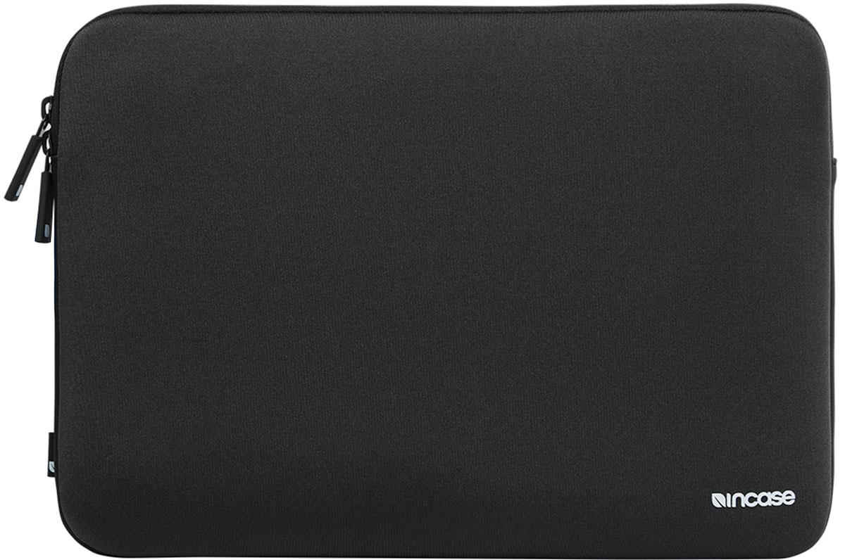 Incase Classic Sleeve чехол для Apple MacBook 12, BlackINMB10071-BLKЧехол Incase Classic Sleeve со специальной основой из неопрена и внутренней подкладкой из искусственного меха выглядит просто и элегантно и надёжно защищает ваш MacBook в любой ситуации. Защитный внутренний слой толщиной 3 мм с подкладкой из искусственного меха Перфорированные детали Молнии закрытого типа со специальными прочными язычками YKK.