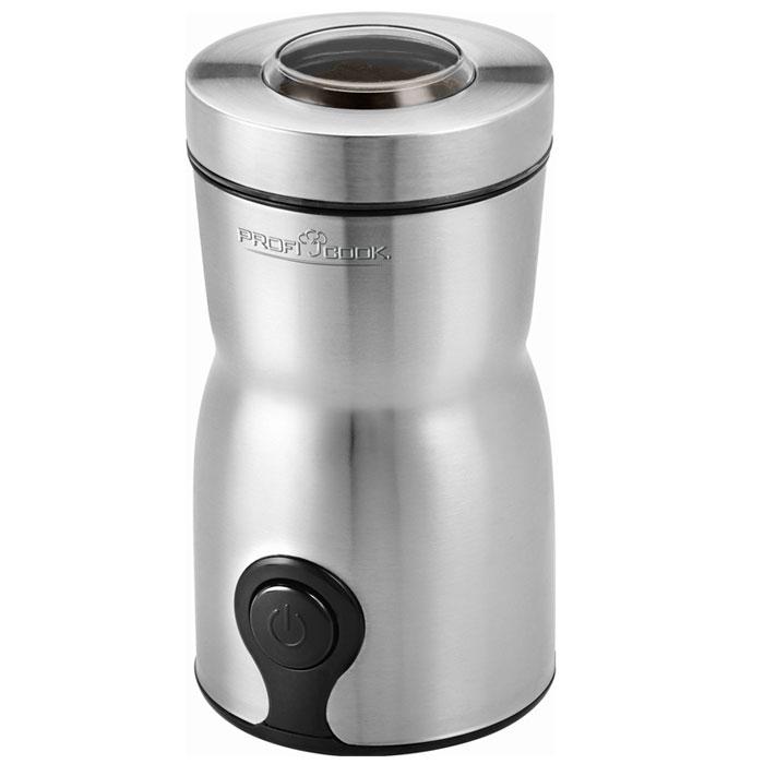 Profi Cook PC-КSW 1093, Silver кофемолкаPC-КSW 1093Электрическая кофемолка Profi Cook PC-KSW 1093 имеет мощность 160 Вт, вмещает 60 г зернового кофе и обеспечивает качественный, равномерный и быстрый помол. Степень помола регулируется длительностью работы кофемолки. Так как в крышке есть смотровое окно, будет легко определить необходимое время помола. Контейнер для кофе прочно закрывается, сохраняя аромат свежемолотых зерен. Кофемолка безопасна в использовании – она включится только с правильно установленной крышкой. Корпус данной модели выполнен из прочной нержавеющей стали – гигиеничного и долговечного материала. Стильный дизайн модели делает кофемолку украшением кухонного интерьера.