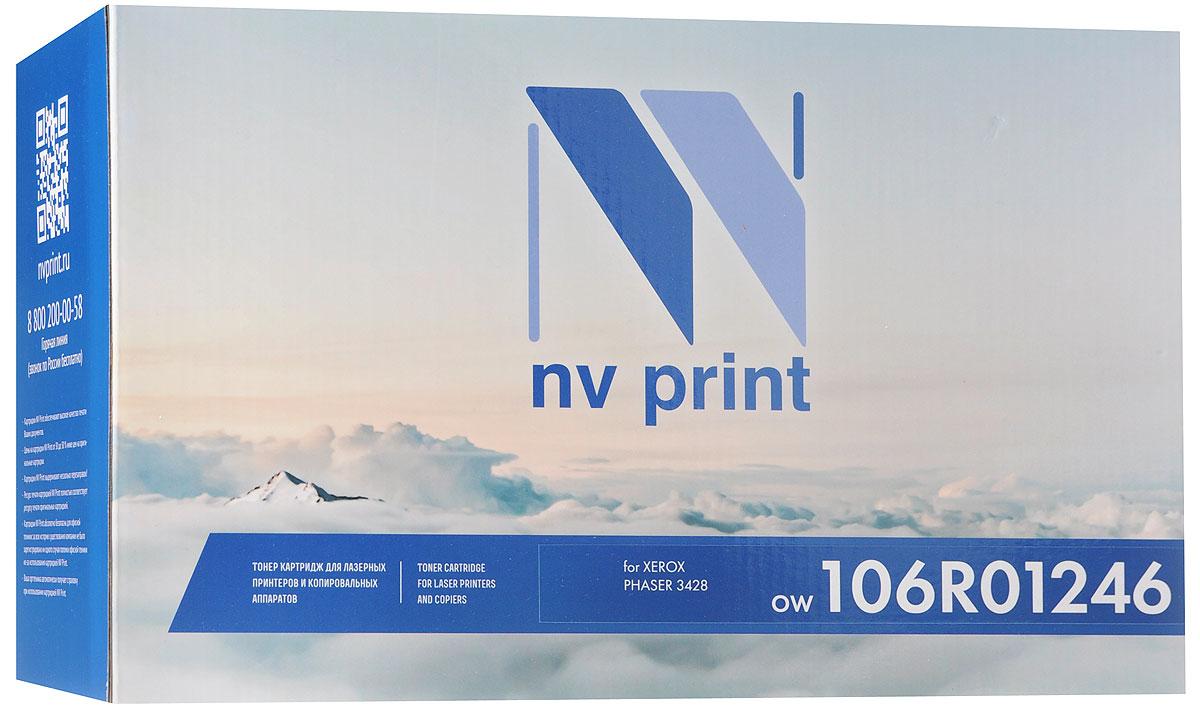 NV Print 106R01246, Black тонер-картридж для Xerox Phaser 3428NV-106R01246Совместимый лазерный картридж NV Print 106R01246 для печатающих устройств Xerox - это альтернатива приобретению оригинальных расходных материалов. При этом качество печати остается высоким. Картридж обеспечивает повышенную чёткость чёрного текста и плавность переходов оттенков серого цвета и полутонов, позволяет отображать мельчайшие детали изображения. Лазерные принтеры, копировальные аппараты и МФУ являются более выгодными в печати, чем струйные устройства, так как лазерных картриджей хватает на значительно большее количество отпечатков, чем обычных. Для печати в данном случае используются не чернила, а тонер.