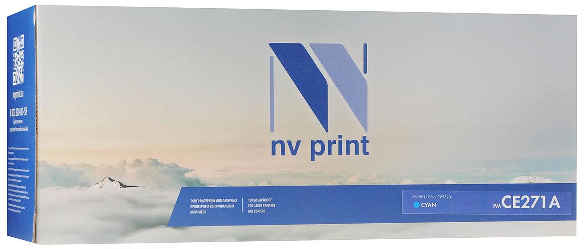 NV Print CE271AC, Cyan тонер-картридж для HP Color LaserJet CP5520NV-CE271ACСовместимый лазерный картридж NV Print CE271AC для печатающих устройств HP - это альтернатива приобретению оригинальных расходных материалов. При этом качество печати остается высоким. Картридж обеспечивает повышенную четкость изображения и плавность переходов оттенков и полутонов, позволяют отображать мельчайшие детали изображения. Лазерные принтеры, копировальные аппараты и МФУ являются более выгодными в печати, чем струйные устройства, так как лазерных картриджей хватает на значительно большее количество отпечатков, чем обычных. Для печати в данном случае используются не чернила, а тонер.