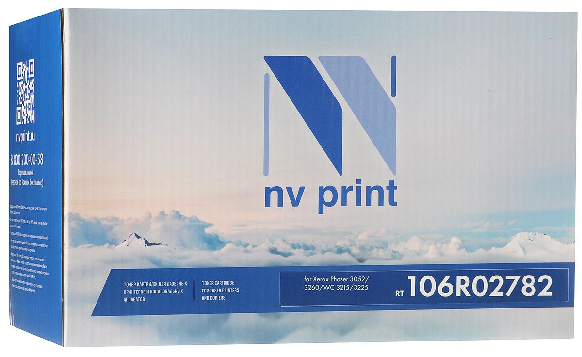 NV Print 106R02782, Black тонер-картридж для Xerox Phaser 3052/3260/WC 3215/3225NV-106R02782Картридж лазерный совместимый Xerox, производитель NV Print, модель NV-106R02782 для Xerox Phaser 3052/3260/WC 3215/3225, ресурс 6000 копий
