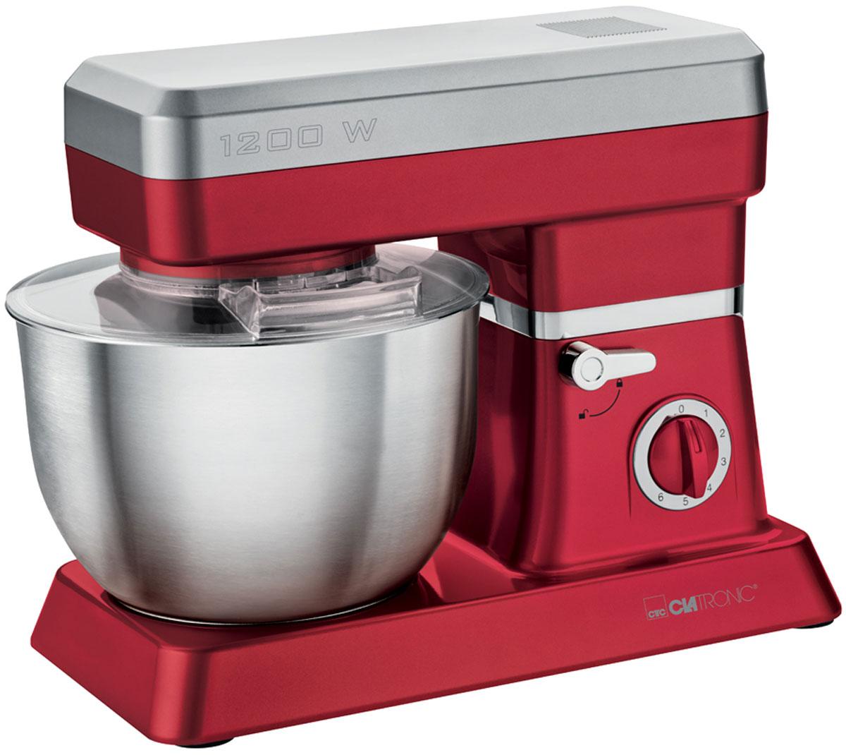 Clatronic KM 3630, Red кухонный комбайнKM 3630 rotКухонный комбайн Clatronic KM 3630 станет прекрасным помощником для любой хозяйки С ним вы сможете готовить невероятно вкусные и аппетитные блюда, при этом сократив время их приготовление. Основным назначением прибора является изготовление различных видов теста и кремов. Миксер качественно и быстро перемешивает различные ингредиенты, что дает возможность избежать комочков. Clatronic KM 3630 снабжен чашей из нержавеющей стали и механической системой управления. 6 скоростей замешивания + импульсный режим обеспечат наилучший результат. Поворотный рукав на 35° Чаша из нержавеющей стали Быстрозажимной патрон Легко разбирается для мытья и чистки