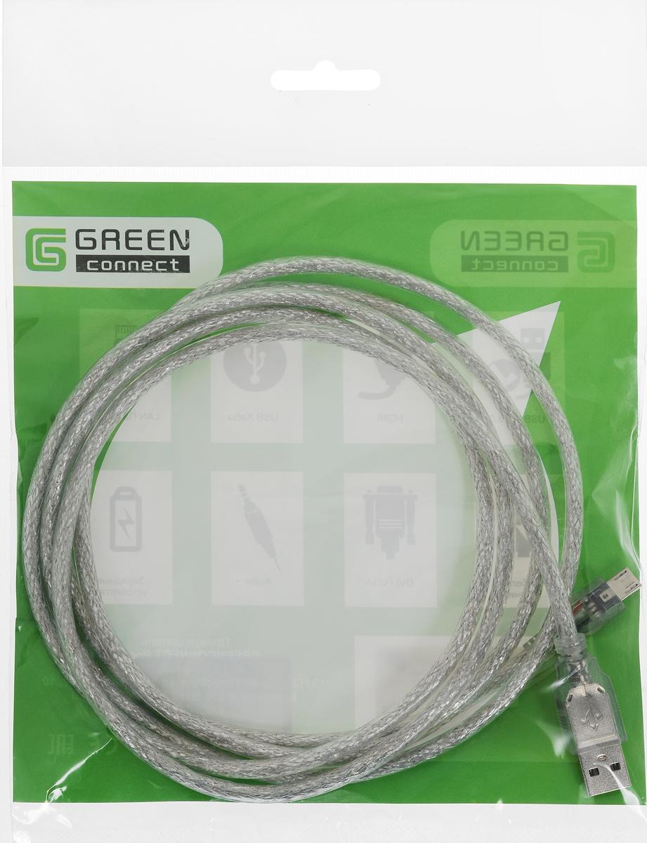 Greenconnect Premium GCR-UA2MCB2-BD2S, Clear кабель microUSB-USB 2 мGCR-UA2MCB2-BD2S-2.0mКабель Greenconnect Premium GCR-UA2MCB2-BD2S позволяет подключать мобильные устройства, которые имеют разъем microUSB к USB разъему компьютера. Подходит для повседневных задач, таких как синхронизация данных и передача файлов. Кабель имеет экранирование, что позволяет защитить сигнал при передаче от влияния внешних полей, способных создать помехи. Пропускная способность интерфейса: до 480 Мбит/с Тип оболочки: PVC (ПВХ)