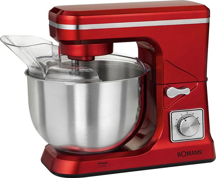 Bomann KM 1393 CB, Red кухонный комбайнKM 1393 CB rotКухонный комбайн Bomann KM 1393 CB станет прекрасным помощником для любой хозяйки С ним вы сможете готовить невероятно вкусные и аппетитные блюда, при этом сократив время их приготовление. Основным назначением прибора является изготовление различных видов теста и кремов. Прибор качественно и быстро перемешивает различные ингредиенты, что дает возможность избежать комочков. Bomann KM 1393 CB снабжен чашей из нержавеющей стали и механической системой управления. 8 скоростей замешивания, включая импульсный режим, обеспечат наилучший результат. Поворотный рукав на 35° Чаша из нержавеющей стали Быстрозажимной патрон Легко разбирается для мытья и чистки