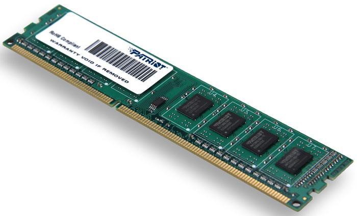 Patriot DDR3 DIMM 2GB 1600МГц модуль оперативной памяти (PSD32G160081)