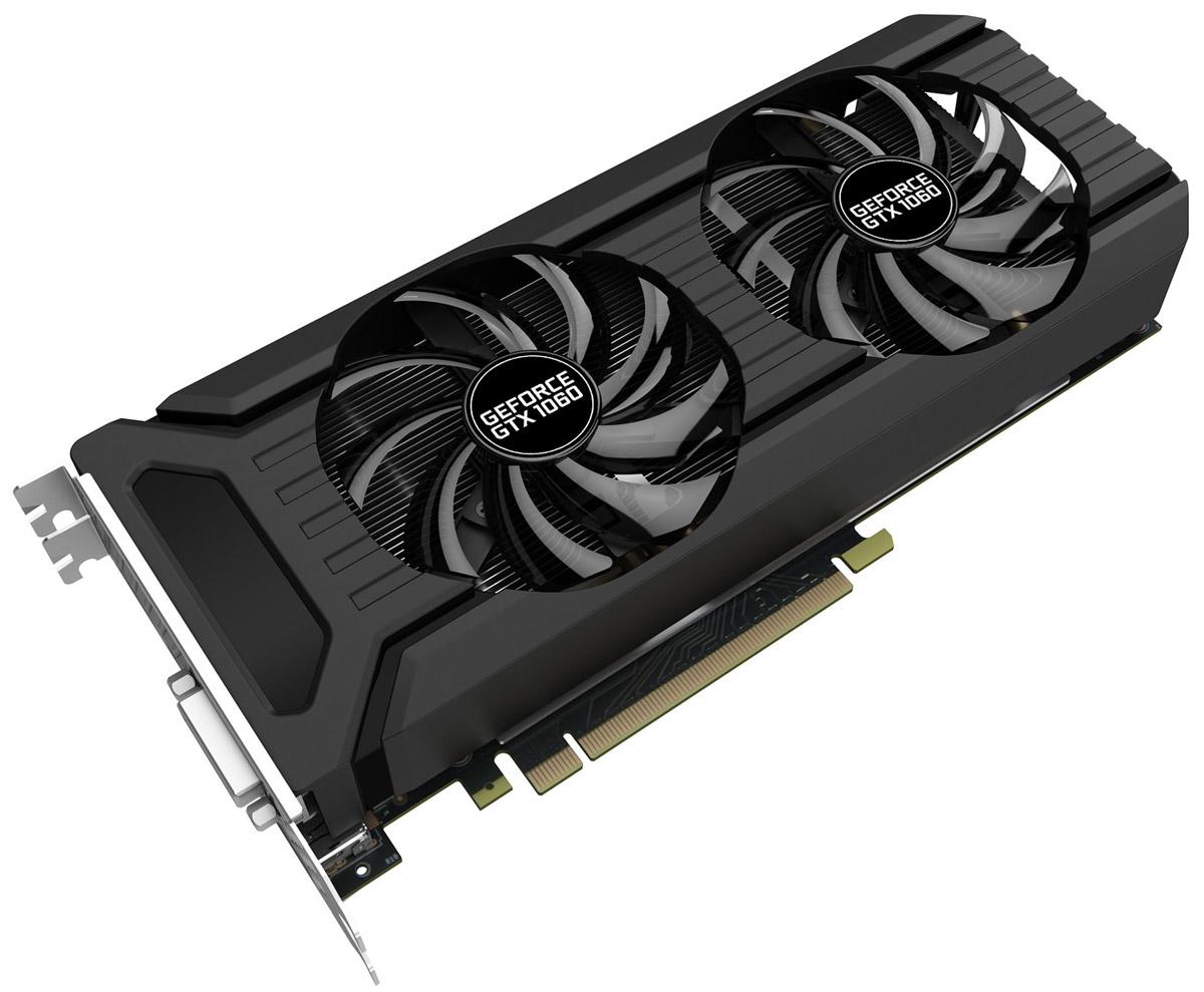 Palit GeForce GTX 1060 Dual 3GB видеокартаPA-GTX1060 DUAL 3GВ картах GeForce GTX 1060 Dual с двумя вентиляторами применяются инновационные игровые технологии. Благодаря этому они отлично подходят для современных игр в высоком разрешении. Архитектура NVIDIA Pascal в основе графического процессора GeForce GTX 1060 считается самой мощной в мире. Производительности карт линейки хватит для работы с самыми требовательными VR-играми и приложениями. Конструкция крепёжной панели с ячейками в виде сот увеличивает отводимый от графического процессора воздушный поток на 15%, что улучшает общую эффективность системы охлаждения. Конструкция с двумя вентиляторами удваивает производительность системы охлаждения, а пара умных вентиляторов диаметром 90 мм эффективно отводит тепло от горячих точек видеокарты. Благодаря наличию разъемов DisplayPort и HDMI, видеокарты серии Palit позволяют подключать сразу два монитора с разрешением 4K и наслаждаться просто невероятным качеством изображения. DrMOS, ранее...