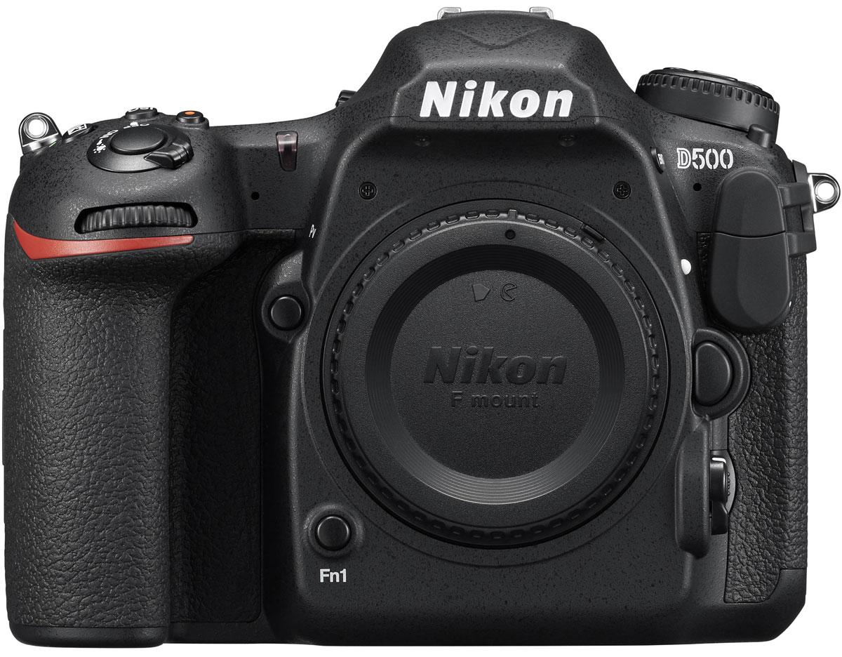 Nikon D500 Body, Black цифровая зеркальная камераVBA480AEФотокамера Nikon D500, младшая сестра флагманской модели D5 формата FX, демонстрирует непревзойденное сочетание мощности и точности. Разработанная корпорацией Nikon 153-точечная система АФ нового поколения позволяет работать в самых разных условиях съемки. Новая матрица и датчик для замера экспозиции обеспечивают исключительно точное распознавание объектов съемки и деталей изображения. Скорость съемки может составлять до 10 кадров в секунду, а быстрый буфер памяти позволяет снять до 200 изображений в формате NEF (RAW) в одной высокоскоростной серии. Модель выполняет фокусировку с абсолютной точностью, даже практически в полной темноте. Эта феноменальная система АФ со 153 точками фокусировки и 99 датчиками перекрестного типа обеспечивает непревзойденное покрытие, охватывая практически всю ширину поля видоискателя. Благодаря понижению порога чувствительности АФ до –4 EV в центральной точке и до –3 EV (ISO 100, 20 °C) для всех остальных точек ...