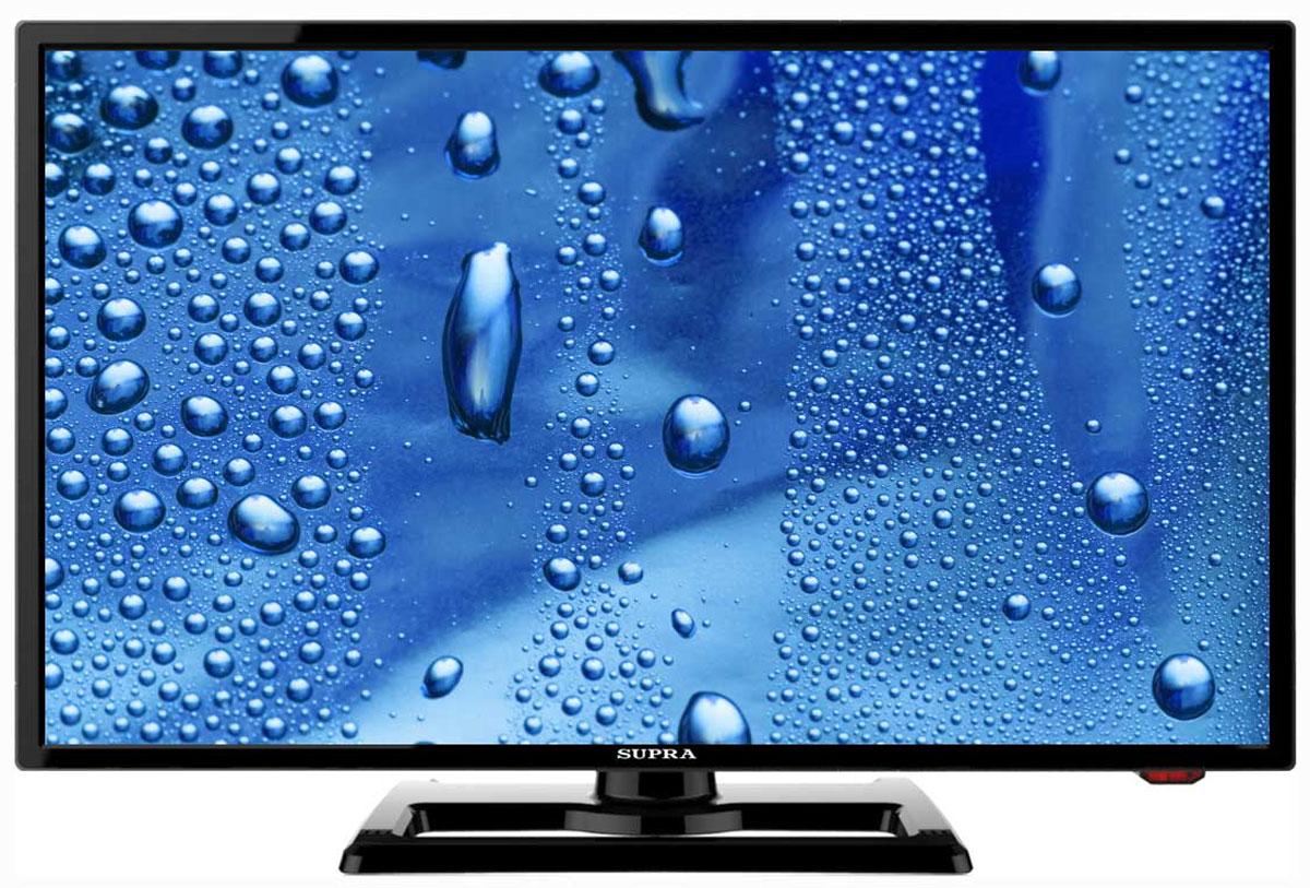 Supra STV-LC22T440FL телевизорSTV-LC22T440FLТелевизор Supra STV-LC22T440FL с насыщенной цветопередачей изображения на экране с разрешением 1920x1080 FullHD и широкими углами обзора. Источником сигнала для качественной реалистичной картинки служат не только цифровые эфирные и кабельные каналы, но и любые записи с внешних носителей, благодаря универсальному встроенному USB медиаплееру. Количество цветов: 16,7 миллионов Поддержка HDTV Яркость: 230 кд/м2 Динамическая контрастность: 60000:1 Угол обзора: 170° Время отклика пикселя: 5 мс