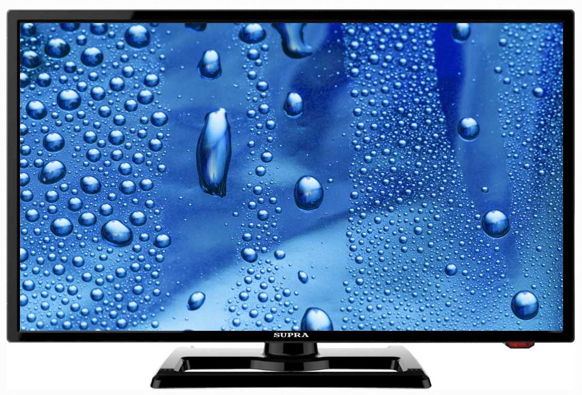 Supra STV-LC24450WL телевизорSTV-LC24450WLТелевизор Supra STV-LC24450WL с насыщенной цветопередачей изображения на экране с разрешением 1920x1080 FullHD и широкими углами обзора. Источником сигнала для качественной реалистичной картинки служат не только цифровые эфирные и кабельные каналы, но и любые записи с внешних носителей, благодаря универсальному встроенному USB медиаплееру. Количество цветов: 16,7 миллионов Поддержка HDTV Яркость: 230 кд/м2 Динамическая контрастность: 60000:1 Угол обзора: 170° Время отклика пикселя: 5 мс