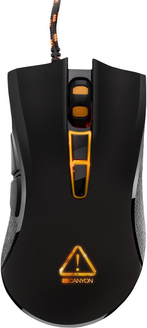 Canyon Fobos игровая мышь (CND-SGM3)CND-SGM3Заставь своих врагов дрожать от страха! Мышь Canyon Fobos с высокоточным оптическим сенсором позволяет играть эффективно, а побеждать — эффектно! Благодаря 7 программируемым кнопкам, оптике нового поколения и быстрому переключению разрешения, эта мышь очень легко адаптируется под ваш личный игровой стиль. Работа сенсора до 6000 снимков в секунду и повышенная до 1000 Гц частота позволяют делать плавные и предсказуемые замедления и ускорения объекта в игровом пространстве. Мгновенная и прицельная реакция в игре на больших мониторах, либо на нескольких экранах! Оптический сенсор нового поколения Sunplus позволяет быстро переключаться между уровнями разрешения - 800, 1600, 2400, 3500 DPI. Кроме того, с помощью драйвера можно подобрать любое персональное значение DPI. Кабель в оплетке и ферритовый фильтр подавляют высокочастотные помехи и обеспечивают бесперебойность сигнала. С мышью Fobos ничто не способно помешать динамике вашей...