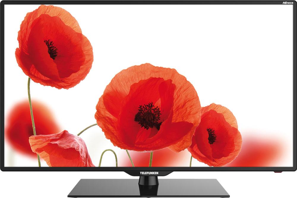 Telefunken TF-LED39S6T2, Black телевизорTF-LED39S6T2(ЧЕРНЫЙ)39 (99 см) телевизор Telefunken TF-LED39S6T2 выглядит одновременно внушительным и элегантным. Конструкция легкая и плоская, с возможностью установки двумя способами: стандартным - на оригинальную подставку, или же с помощью специального настенного крепления. Для модели TF-LED39S6T2 возможно воспроизведение мультимедийных файлов (фото, видео, музыка) с различными звуковыми и видеокодеками (JPEG, MP3, AVI, MP4, MKV, Xvid. H.264), в том числе Dolby Digital (AC3) через USB-порт. Также к модели возможно одновременное подключение до 3-х источников HDMI. 2 динамика суммарной мощностью 16 Вт обеспечивают необходимое звуковое сопровождение. Несмотря на то, что собственное разрешение составляет 1366 x 768 (HD Ready) телевизор способен отобразить изображение большего разрешения (Full HD), преобразовав в собственное. Тюнер телевизора обеспечивает прием как аналогового так и эфирного (DVB-T/T2), а также кабельного (DVB-С) вещания. В своём арсенале...