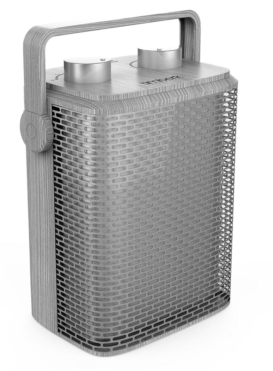 Timberk TFH T15PDS.D тепловентиляторCB 090Тепловентилятор Timberk TFH T15PDS.D в эксклюзивном цветовом решении имеет настольное вертикальное размещение. Он обеспечивает мгновенный нагрев воздушного потока. Технология Anti-Dust - это съемный защитный фильтр на задней части корпуса прибора, препятствующий попаданию частиц пыли и улучшению качества воздуха. Два режима мощности на выбор (750/1500 Вт) Режим обдува без обогрева Высокоэффективный металлокерамический нагревательный элемент Корпус с новейшей формой решетки