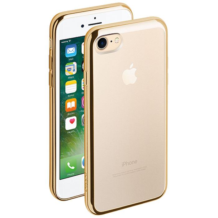 Deppa Gel Plus Case чехол для Apple iPhone 7, Gold85256Чехол Deppa Gel Plus Case из TPU производства Bayer предназначен для защиты корпуса смартфона от механических повреждений и царапин в процессе эксплуатации. Имеется свободный доступ ко всем разъемам и кнопкам устройства. Толщина: 0.9 мм