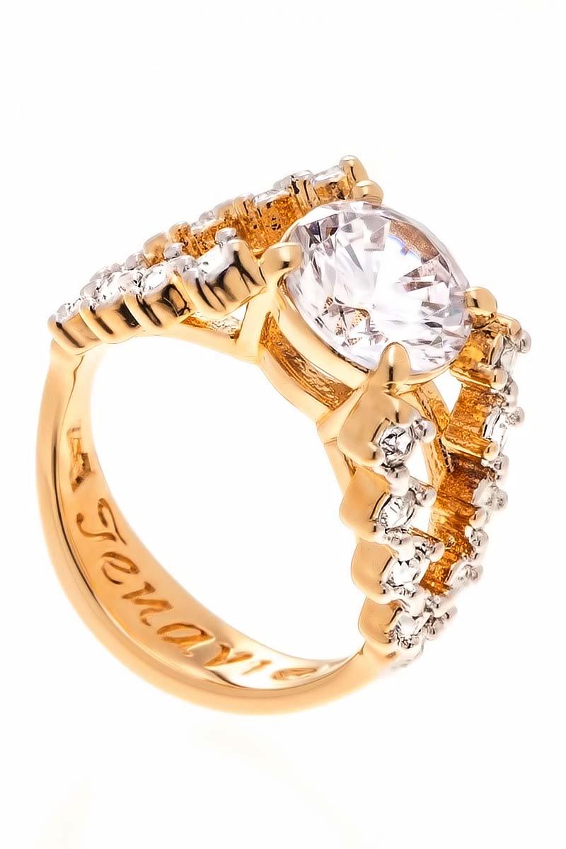 Кольцо Jenavi Teona. Ситара, цвет: золотой, белый. f429q0a0. Размер 20f429q0a0Коллекция Teona, Ситара (Кольцо) гипоаллергенный ювелирный сплав,Позолота с родированием, вставка Фианит , цвет - золотой, белый, размер - 20