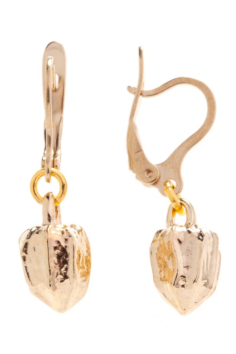 Серьги Jenavi Natura. Физалис, цвет: золотой, . f444p190f444p190Коллекция Natura, Физалис (Серьги) гипоаллергенный ювелирный сплав,Позолота, вставка без вставок, цвет - золотой