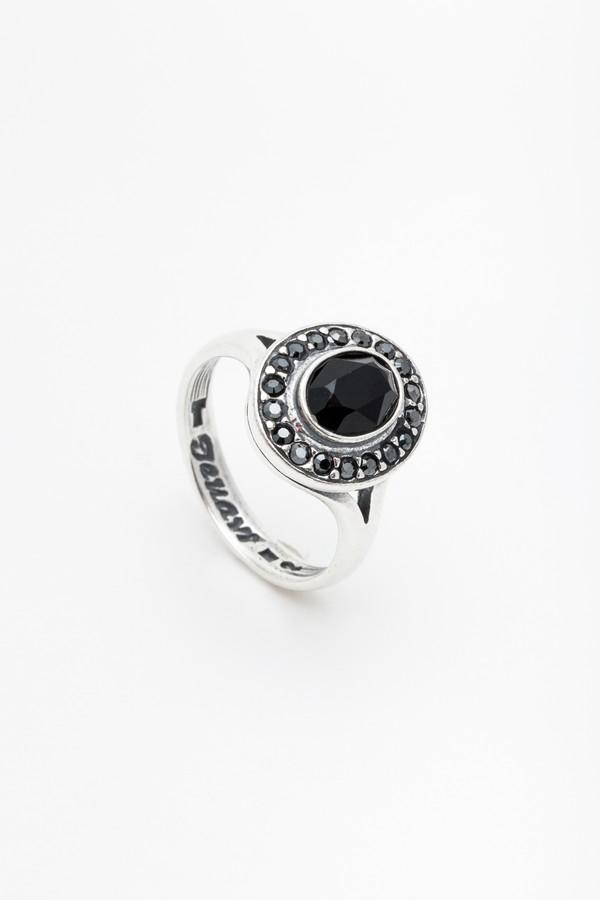 Кольцо Jenavi Murano. Навогеро, цвет: серебро, черный. r4683060. Размер 16r4683060Коллекция Murano, Навогеро (Кольцо) гипоаллергенный ювелирный сплав,Черненое серебро, вставка Кристаллы Swarovski , цвет - серебро, черный, размер - 16