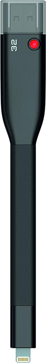 Emtec iCobra 32GB, Black USB-накопительECMMD32GT503V2BФлеш-накопители Emtec iCobra позволяют заряжать устройства Apple, а также защитить ваши личные данные и многое другое! Вы также сможете быстро передать нужные файлы на iCobra, тем самым освободив место на iPhone или IPad; воспроизводить фильмы и музыку с накопителя на мобильном устройстве; резервное копировать или обмениваться файлами между вашим iPhone, IPad или Mac/PC; хранить видео- или фотоальбомы на iCobra, если память вашего iPhone заполнена. Благодаря Emtec Connect AP все ваши файлы могут быть разделены по группам, например файлы, полученные через MMS, по электронной почте или через социальные сети. Два тонких разъемы совместимы с любым слотом, а гибкий кабель не мешает в использовании устройства. Совместимые ОС: Windows 10, 8, 7, Vista, XP, Me, 2000 / Mac OS X / Linux 2.6x