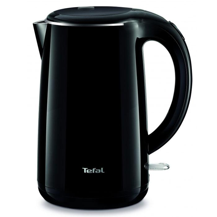 Tefal KO260830 электрочайник7211002465Tefal KO260830 - чайник, оснащенный двойными стенками, которые предотвращают ожоги и способствуют поддержанию температуры воды в течение 30 минут. Он станет прекрасной заменой любой устаревшей модели. Прибор выполнен из качественных и безопасных материалов, поэтому даже длительное использование данной модели не скажется как на качестве работы, так и на вашем здоровье. Устройство быстро нагревает воду и долго сохраняет ее горячей. Tefal KO260830 не занимает много места на кухонной столешнице и не помешает вам в приготовлении пищи. Беспроводное соединение позволяет вращать чайник на подставке на 360°. По необходимости лишний шнур питания вы всегда можете спрятать в специальный отсек.